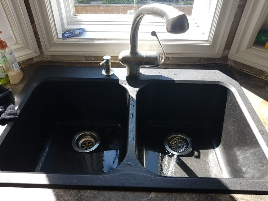 used kitchen sinks for sale granite top island breakfast bar sink and faucet in calgary letgo