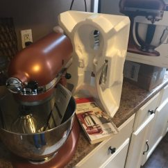 Copper Kitchen Aid Cabinets With Sink Used Kitchenaid 300 Watts Color Pearl Bowl Is 4 5 Qt Brand Opened For Pictures It Has 3 Attachments By Accident I Made A Very