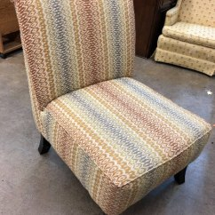 Armless Living Room Chairs Luxury Decor Multi Color Geometric Pattern Chair Usage A