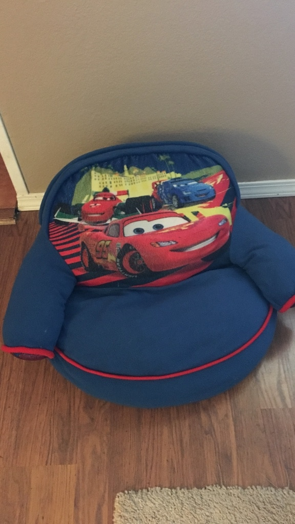 cars sofa chair bernhardt cantor leather used toddler s blue and red disney for sale in homebaby child texico