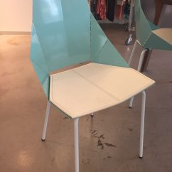 Real Good Chair Swing Cheap Used Blu Dot In Aqua With Pad For Sale Hackensack