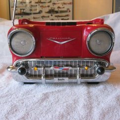 Chevy Radio 57 C2r Chy4 Wiring Diagram Used Vintage Randix Red Portable Am Fm For Sale In Alexandria