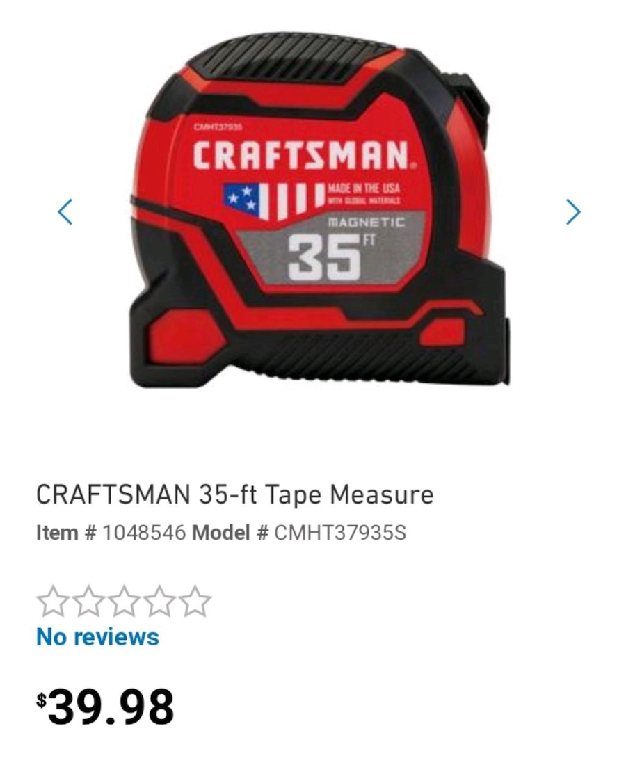 Craftsman Tape Measure Review