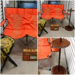 Folding Chair Fishing Pole Holder Home Depot Office Chairs Begagnad New Antique Tack Till