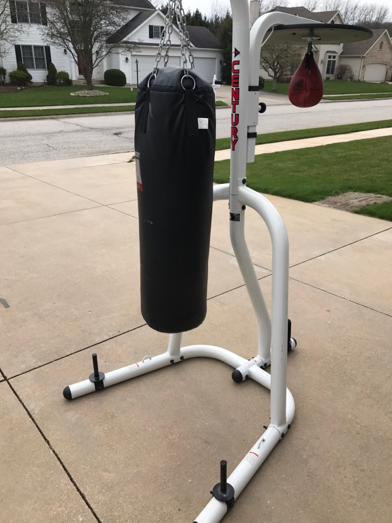 Black Heavy Bag Speed Combo With Stand Century In