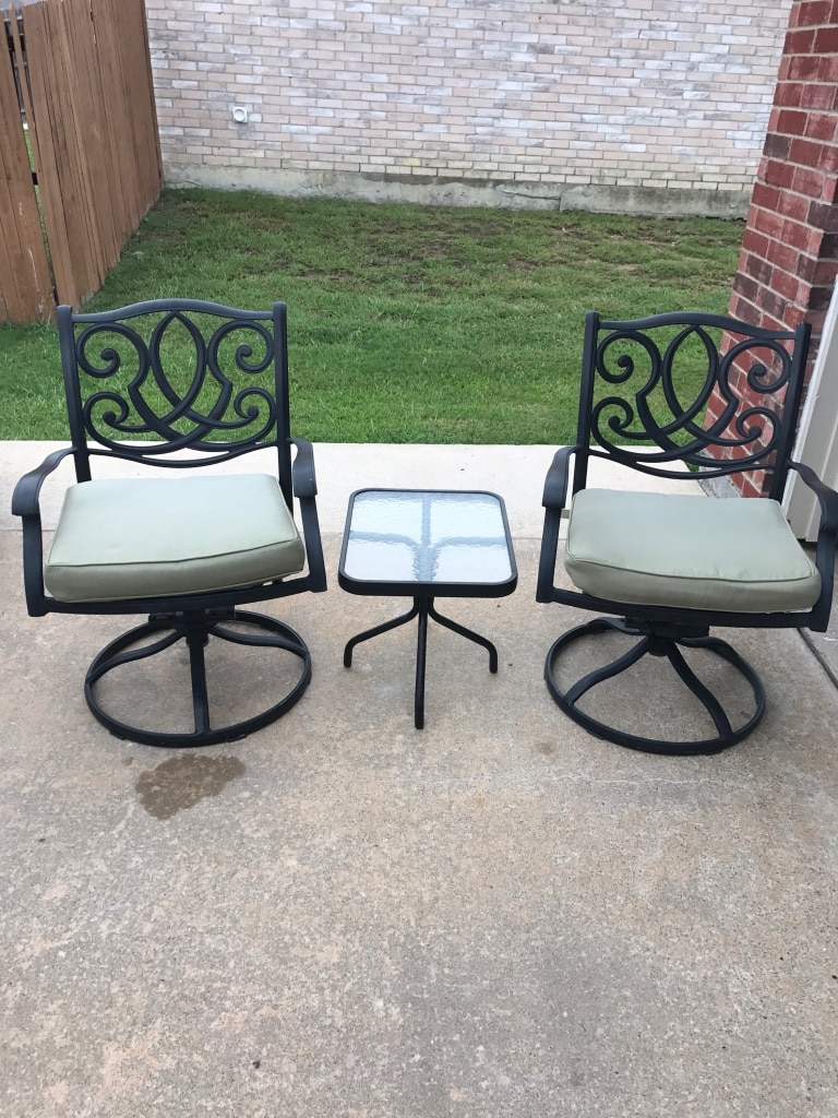 swivel patio chairs sale portable chaise lounge outdoor used metal rocking with table and cushions for