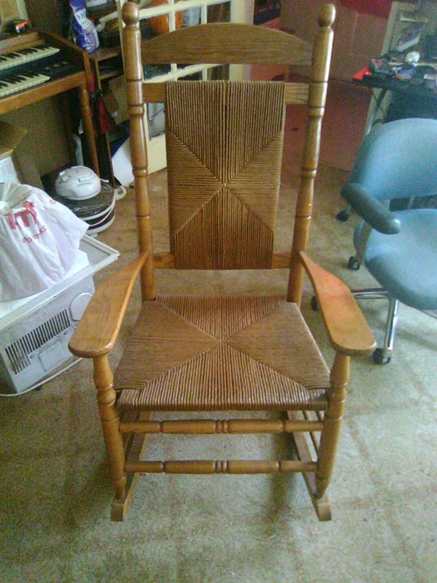 woven rocking chair computer chairs walmart used for sale in mishawaka letgo