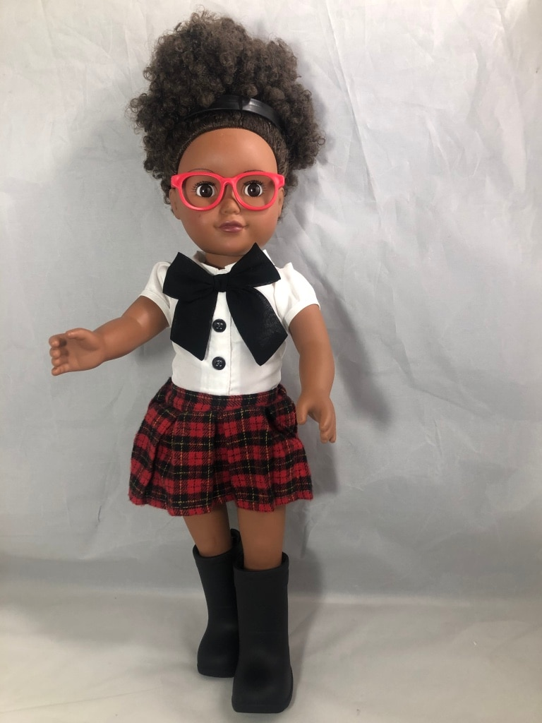 Sold African American Doll Cute Adorable Natural Hair Citi Toy 18