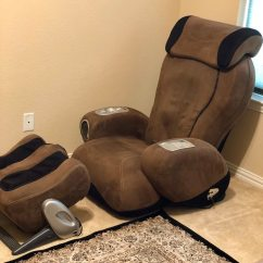 Sharper Image Massage Chairs Doc Mcstuffins Saucer Chair Used Ijoy Turbo 2 Ottoman 3 5 Mocha For Sale In Little Elm Letgo