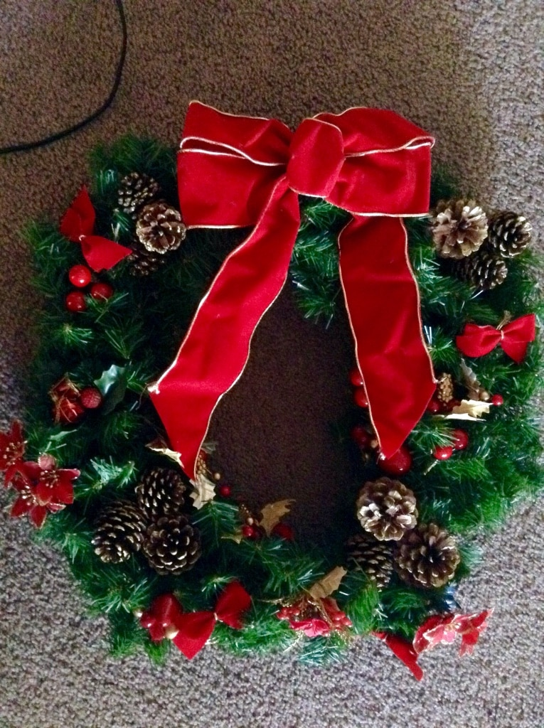 new christmas wreath with