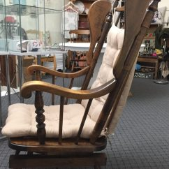 Types Of Rocking Chairs Mickey Mouse Table And Chair Set Used Maple Wingback Wooden Spring Type Rocker For Sale In Beacon Falls Letgo