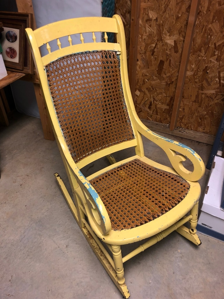 rocking chair cane best heavy duty barber chairs used antique in good shape for sale letgo