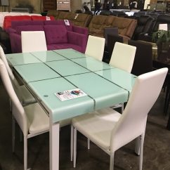 White 6 Chair Dining Table Hanging Swing Begagnad With Chairs Brand New Colors Black Brown And Grey Till Salu I Fort Worth Letgo