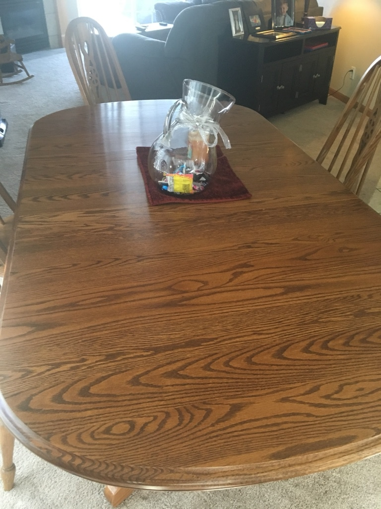 used oak table and chairs black garden chair covers with 6 2 leaves for sale in rockton letgo