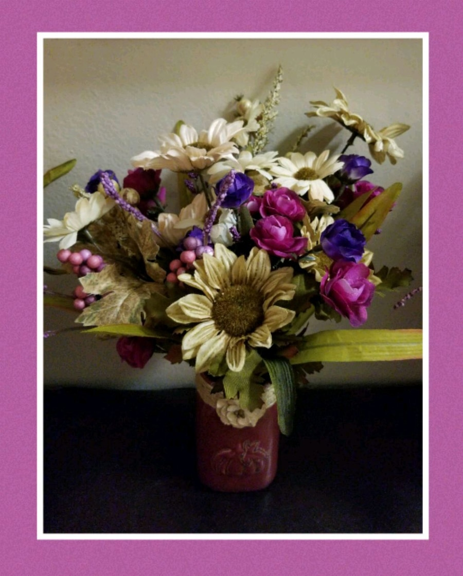 artificial fall flower bouquets