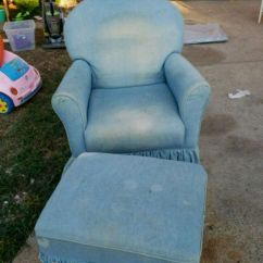 Blue Glider Chair Wedding Hire Nz Used With Ottoman For Sale In Dallas Letgo