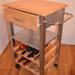 Kitchen Serving Cart Anti Fatigue Mats Used W Drawer Wine Rack For Sale Letgo