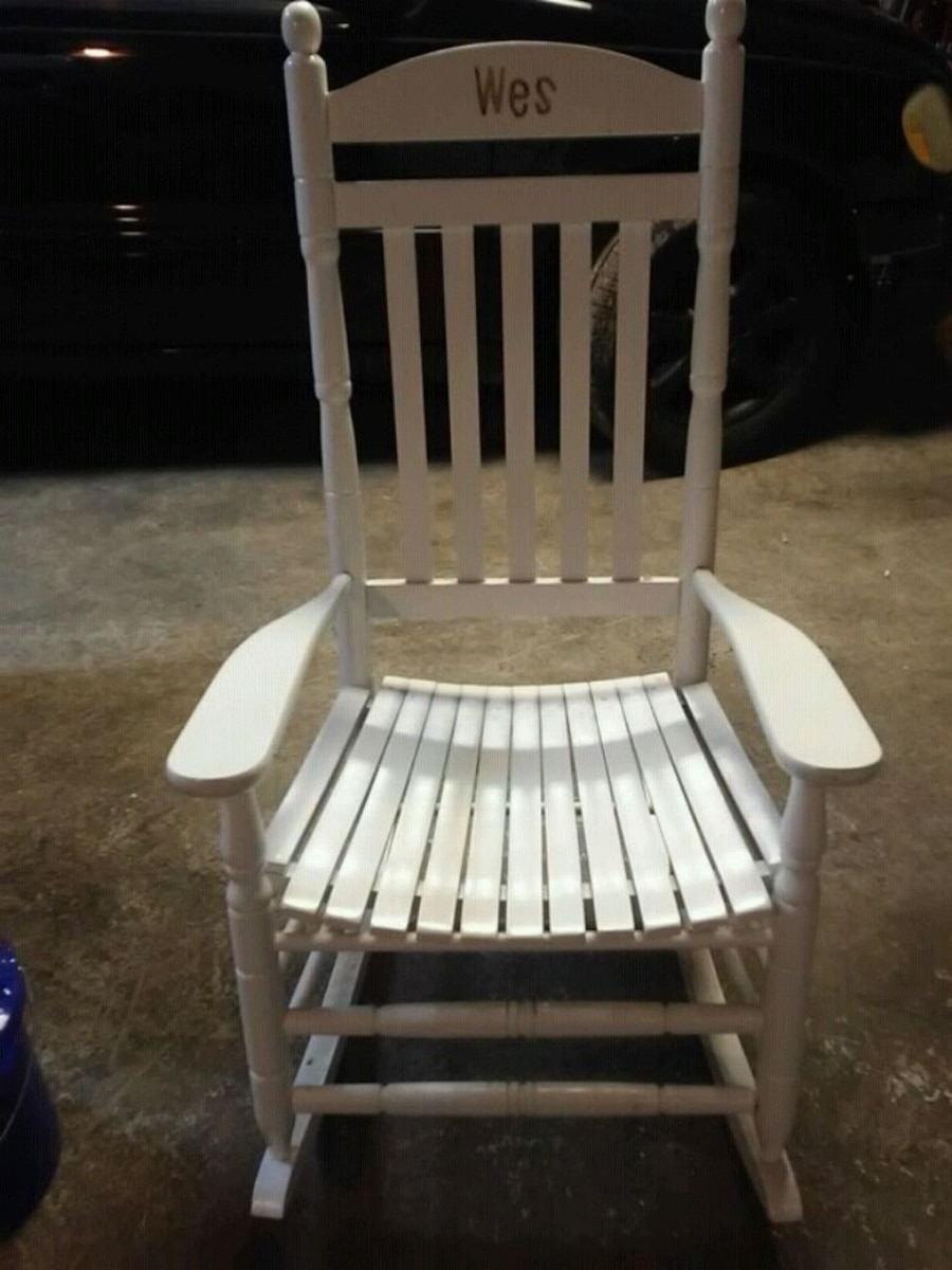 white wood rocking chair covers to buy canada used and brown wooden for sale in winchester letgo