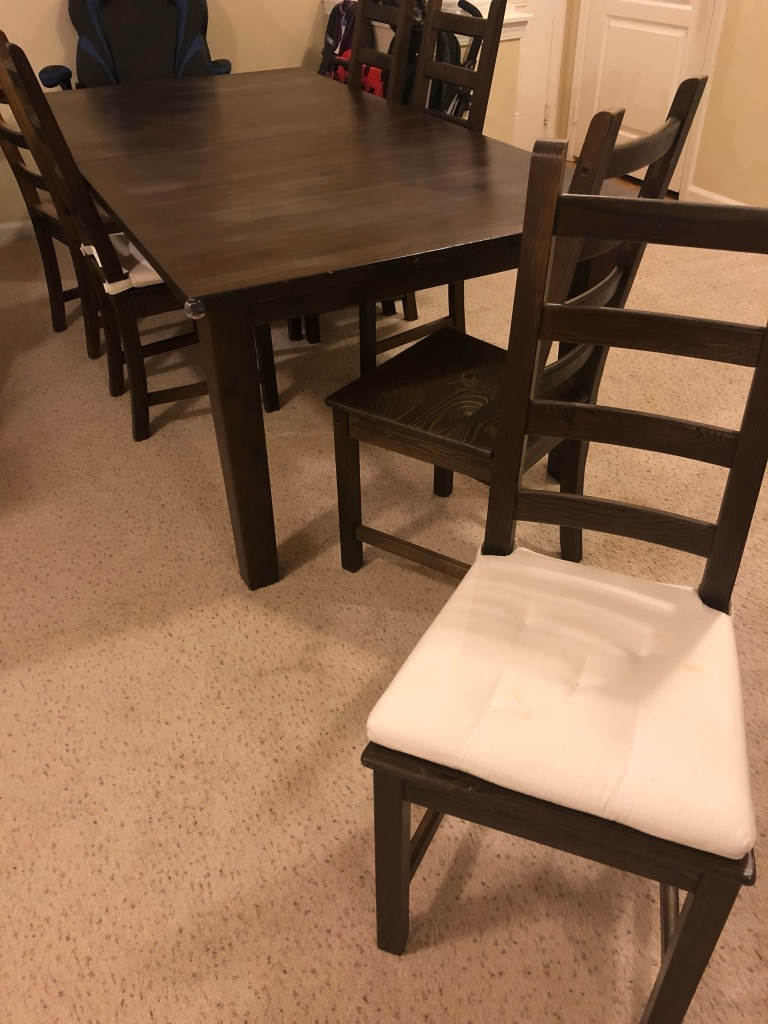 Used Ikea Dining Table And Chairs For Sale In Cary Letgo