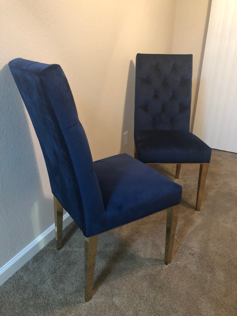 royal blue chairs white leather dining room with arms used gold legs for sale in hayward letgo