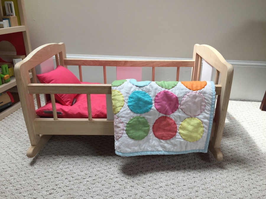 land of nod high chair doll wooden glider cushions used munire crib and conversion kit for sale in arlington letgo cradle