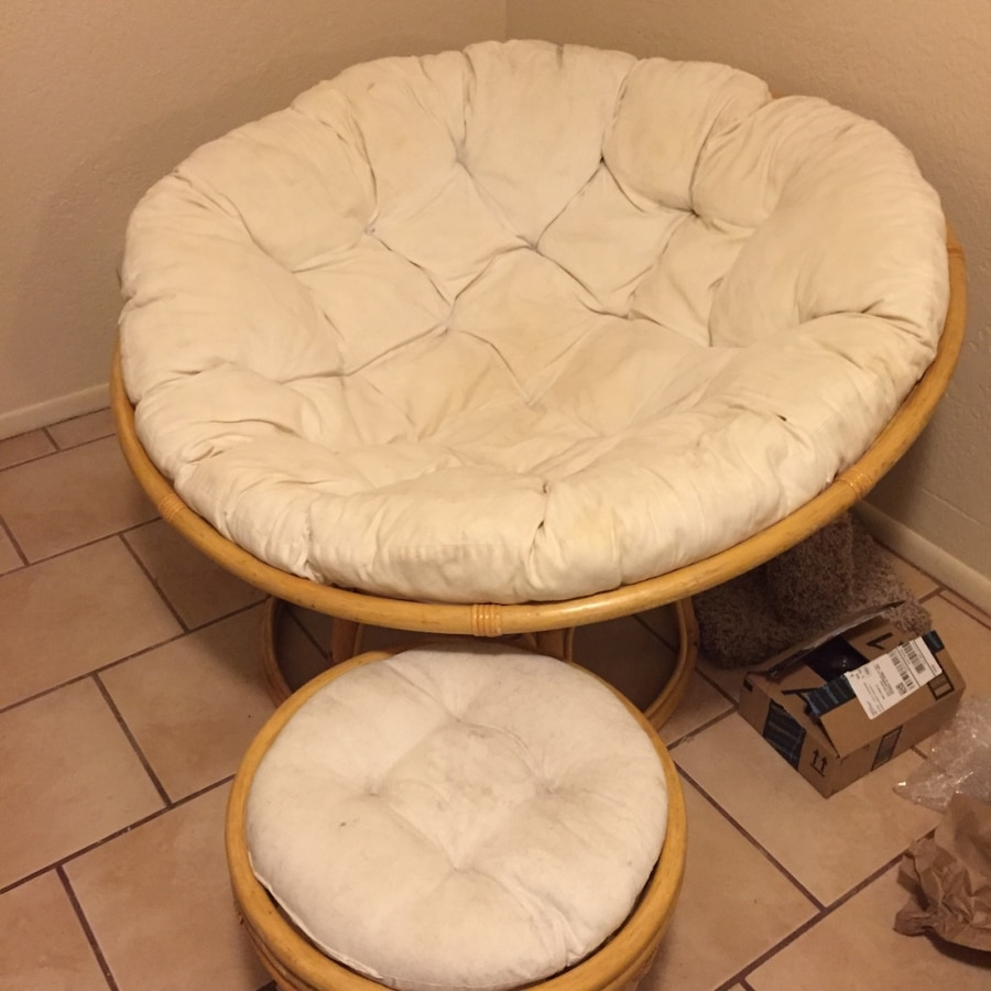papasan chair ottoman fold up shower with arms used and for sale in phoenix letgo