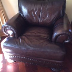 Bernhardt Brown Leather Club Chair Living Room Arm Chairs Used New With Tags For Sale In Metuchen