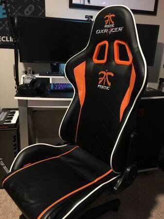 dxracer chair cover swivel rocking chairs for living room used fnatic edition sale in lake forest letgo