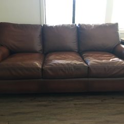 Pottery Barn Leather Sleeper Sofa Cigar Hans Wegner Usage A Vendre San Rafael Letgo