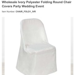 Used Folding Chair Covers For Sale Table And Sets 49 Ivory In Livingston Letgo Homeother