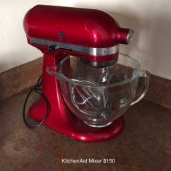 Red Kitchen Aid Mixer Moen Chateau Faucet Repair Used Kitchenaid Stand For Sale In Irving Letgo