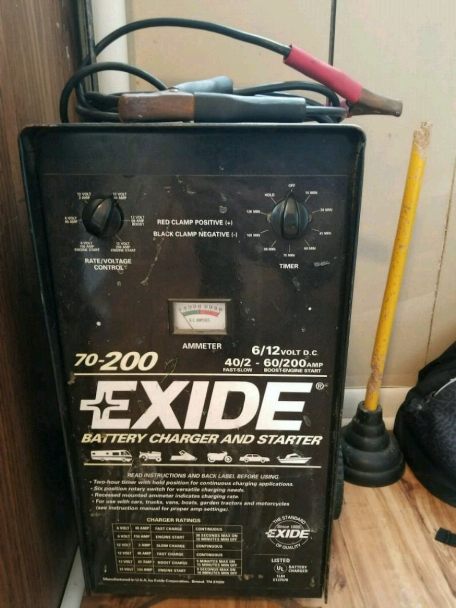 Used 70200 Exide Battery Charger And Starter for sale in