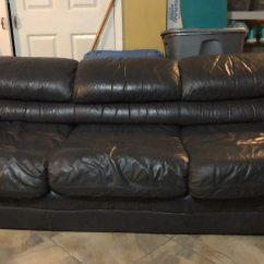 Dark Green Leather Sofa Rv Jackknife Cushions Used Couch For Sale In New York Letgo