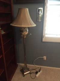 letgo - stainless steel floor lamp with... in Las Vegas, NV
