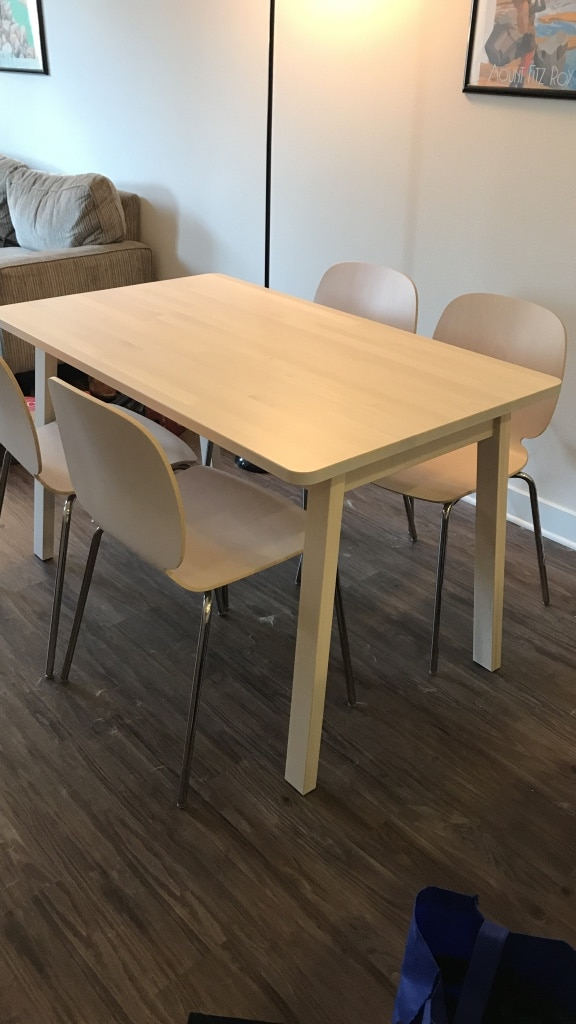 Used Ikea Table And 4 Chairs For Sale In San Diego Letgo