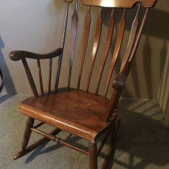 Antique Wooden Rocking Chairs Desk Chair Red Used Vintage For Sale In Valparaiso Letgo