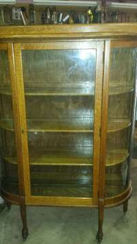 Used Antique Oak China Curio Cabinet in Chesterton