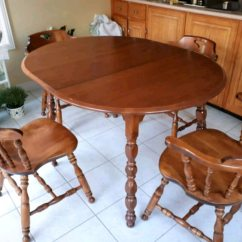 Maple Kitchen Table Granite Top Island Breakfast Bar Kroehler Solid And 6 Chairs Usage A Vendre