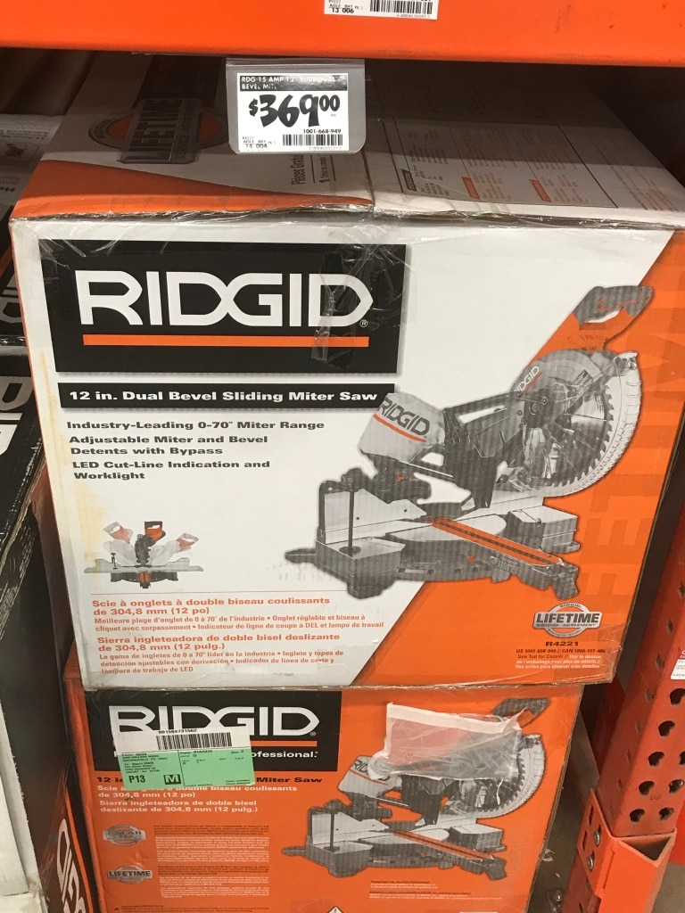 Ridgid 12 Sliding Compound Miter Saw