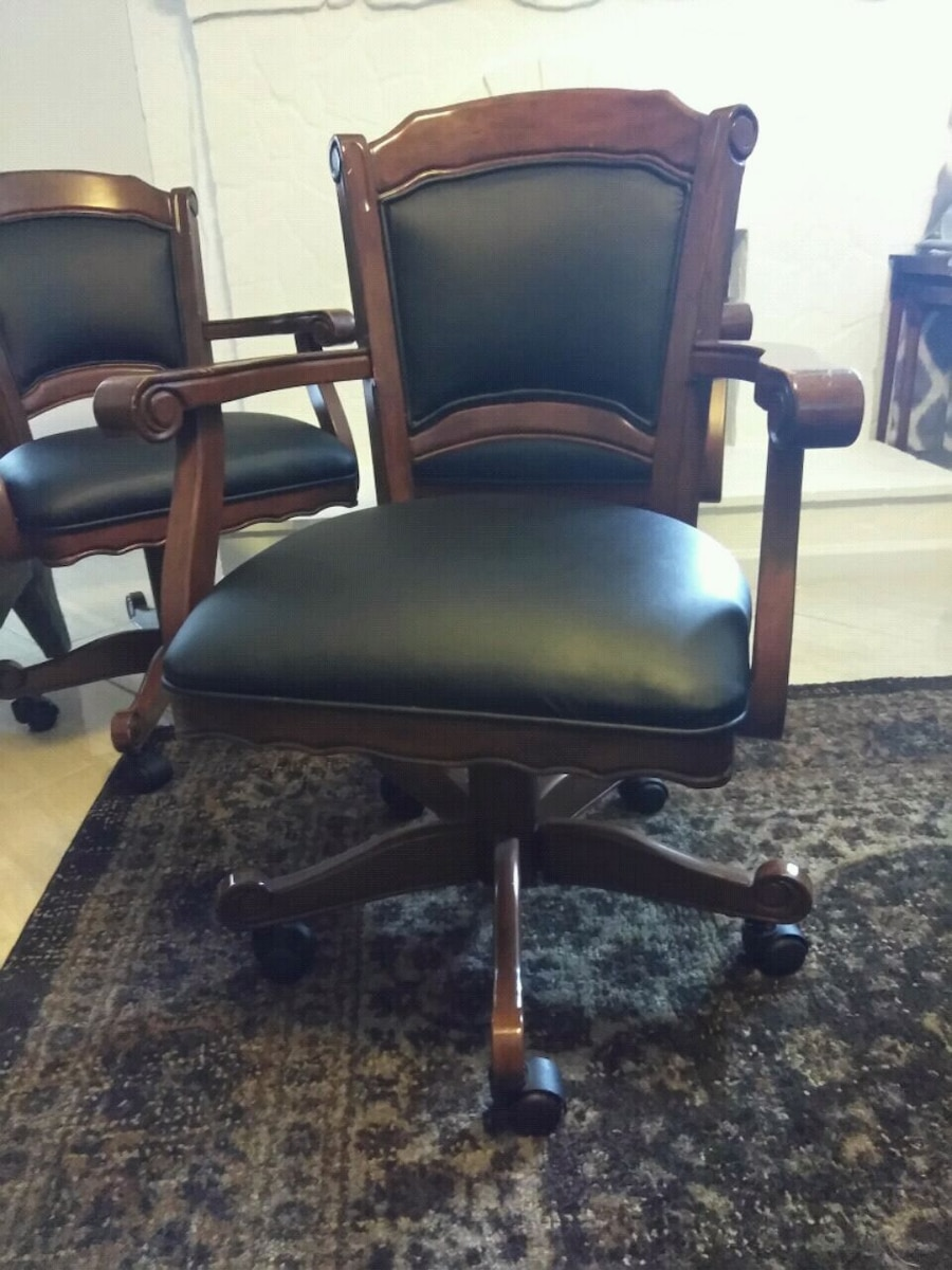 poker chairs with casters infant bath tub chair used game caster for sale in alpharetta letgo