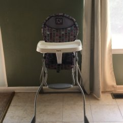 High Chair Egg Folding On Wheels Used Purple Pink And Turquoise Cosco Adjustable For Sale