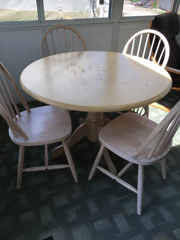 Used 42 Diameter Ikea Table With Chairs For Sale In