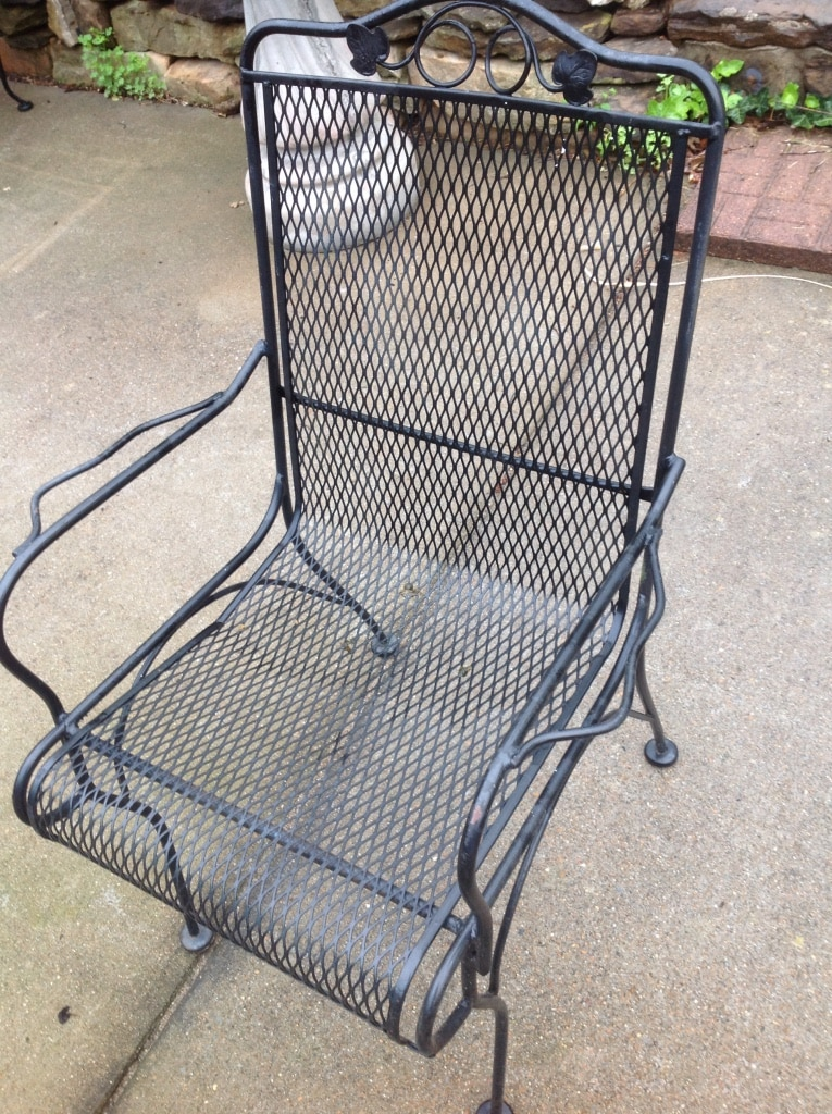 Used Heavy Wrought Iron Patio Chairs In Clarksville