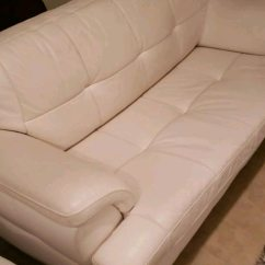 How To Deep Clean White Leather Sofa Hamilton Chantilly Used 3 Seat For Sale In Queens Letgo