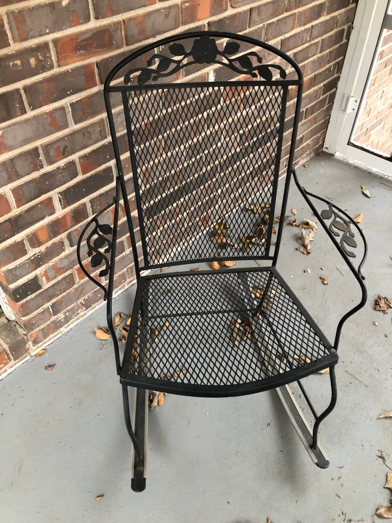 wrought iron rocking chair rolling desk chairs used available saturday and sunday only