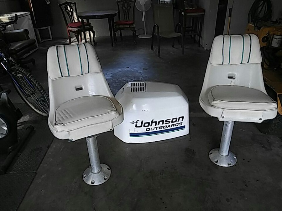 motor chairs for sale wedding chair covers liverpool used white jonson outboard and two in west palm beach