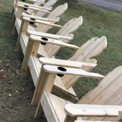 Michigan Adirondack Chair Aeron Head Rest Used 100 Each Treated Wood Built In Cup Holder Great Christmas Gift