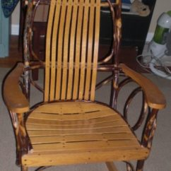 Bent Wood Rocking Chair Rubber Foot Pads For Chairs Used Amish Made Oak Hickory Tall Man Rocker