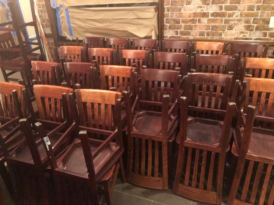 used restaurant chairs for sale dining room furniture wood in rahway letgo