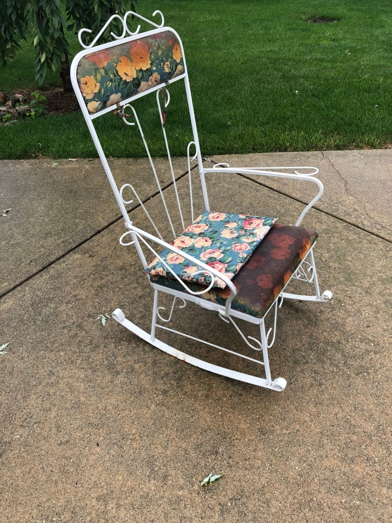 wrought iron rocking chair inada massage review used for sale in addison letgo